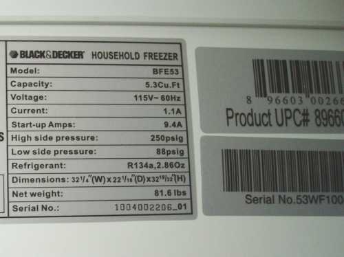 Recall201313160BFE5320rating20and20UPC20labels